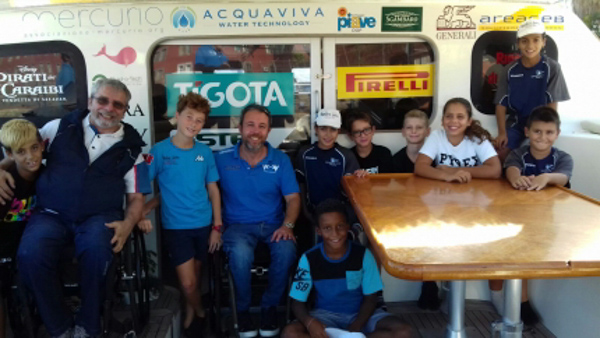 The Spirito di Stella hosts the young Mascalzones of the Sailing School