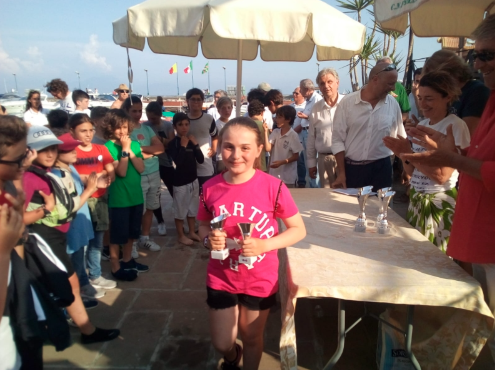 Naples: two podiums in the Optimists in the Italian selections