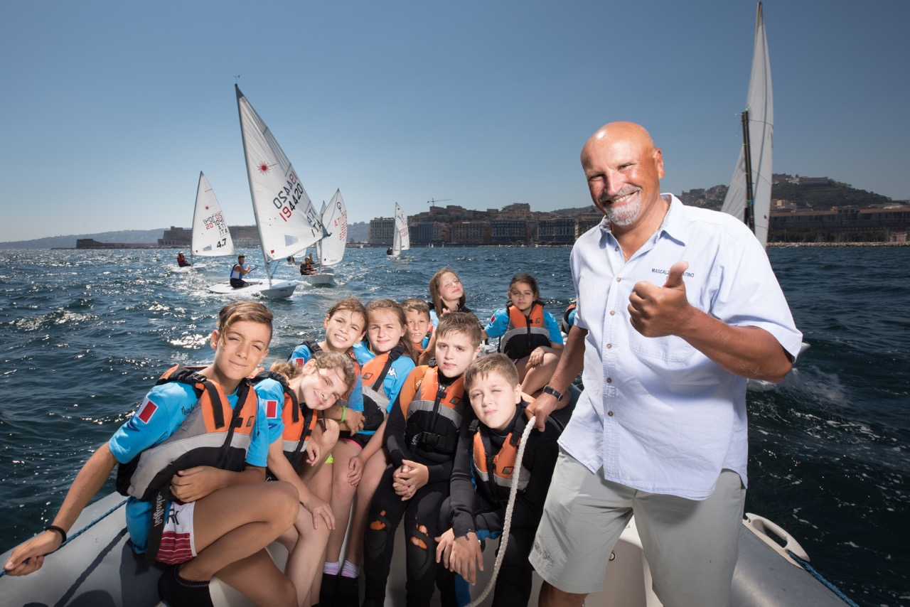 Vincenzo Onorato and the Mascalzone Latino Sailing School in the Naples Family Run & Friends