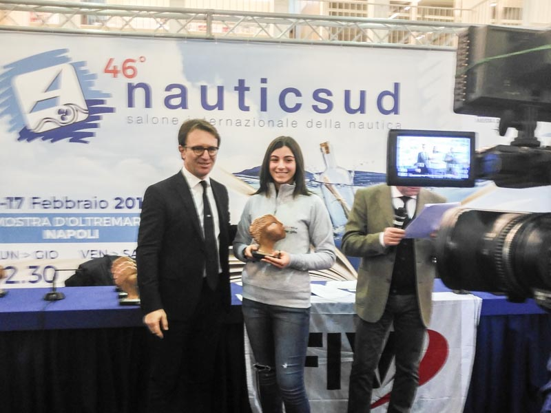 Francesca and Miriana awarded at Nauticsud 2019