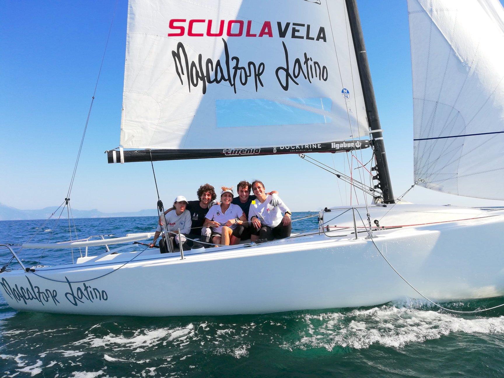 Alessandra Sensini training at the Sailing School with the Universiade athletes